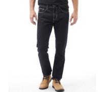Herren 5 Tasche Reg Rinse Jeans in regulär Passform Dunkelindigo
