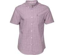 Original Penguin Herren Grape Nectar Hemd mit kurzem Arm Kariert
