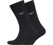 Emporio Armani Mens 2 Pack Socks Black