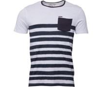 Firetrap Mens Smudge Stripe T-Shirt White
