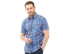 Hemd mit kurzem Arm Blau