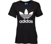 Damen Boyfriend Trefoil T-Shirt Schwarz