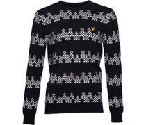 Lyle And Scott Vintage Mens Mini Garland Christmas Jumper New Navy