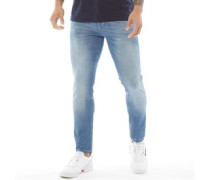 Dapple Ripped Jeans in Slim Passform Verblasstes Hell