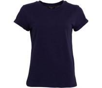 Eleanor Roll Up Cuffed T-Shirt Navy