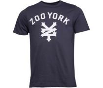 Zoo York Herren Templeton Script Logo s T-Shirt Blau