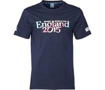 Canterbury Herren England 215 Script T-Shirt Blau