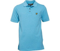 Lyle And Scott Boys Classic Marl Polo Aqua Marl