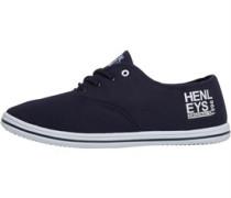 Henleys Herren Stash Plimsolls Freizeit Schuhe Blau