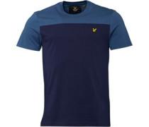 Herren Yoke T-Shirt Blau
