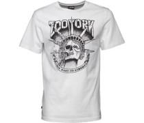 Herren Death Of Liberty Graphic T-Shirt Weiß