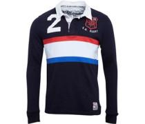 Herren World Legends Rugby Polohemd Navy