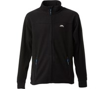 Trespass Herren Bernal Fleece Jacke Schwarz