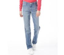 Damen Jeans in Slim Passform Blue Denim