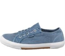 Damen Washed Freizeit Schuhe Blau
