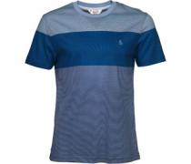 Original Penguin Herren Colour Block Feeder T-Shirt Blau