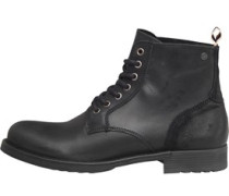 JACK AND JONES Mens Sting Leather Boot Anthracite