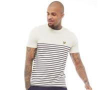 Breton Mit Streifen T-Shirt Ecru