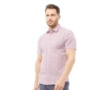 Seersucker Hemd mit kurzem Arm