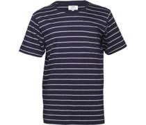 Kangaroo Poo Herren  T-Shirt Navy/Grey Marl