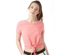 Damen Girl Crop Top Coral