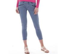 Womens Leila Super Skinny Crop Jeans Mauve Grey