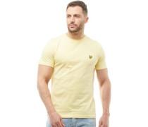 Mens Crew Neck T-Shirt Pale Yellow