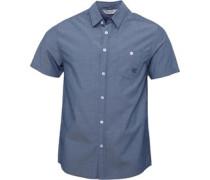 Herren Hemd mit kurzem Arm Blau
