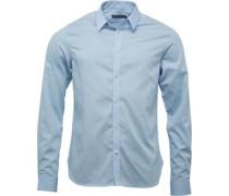Herren Hemd mit langem Arm Hellblau