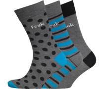 Herren Spot Socken Grau