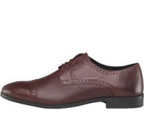 Herren Embossed Toe Schuhe Burgunderrot