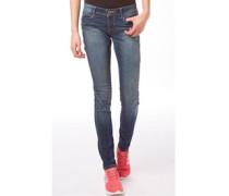 Damen Jeans mit geradem Bein Dunkelblau