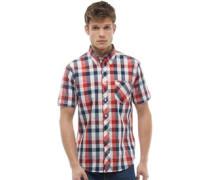 Geprüft Hemd mit kurzem Arm Rot