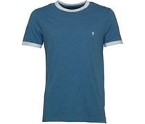 Herren FCUK Ringer T-Shirt Blau