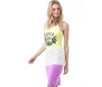 Superdry Womens Miami Beach Tropical Midi Dress Hyper Purple/Neon Yellow