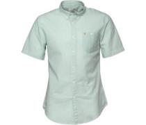 Farah Vintage Herren Sloane Luscious Grass Hemd mit kurzem Arm Grün