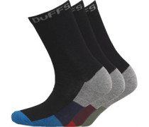 Jungen 3 Pack Socken Schwarz