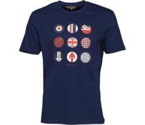 Herren Symbol Prints T-Shirt Navy