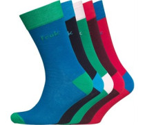 French Connection Herren Five Socken Mehrfarbig