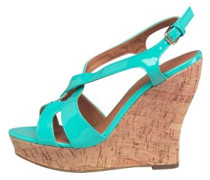 Little Mistress Womens Cork Wedge Sandals Mint