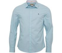 Herren Oxford Hemd mit langem Arm Himmelblau