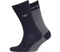 Emporio Armani Herren Socken Blau