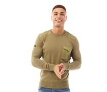 Plankford Pullover mit Rundhalsausschnitt Oliven