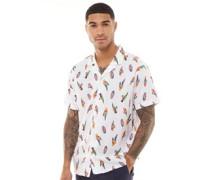 Cubano Hemd mit kurzem Arm Weiß
