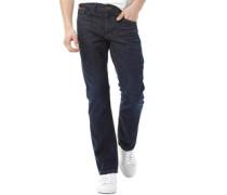 Herren Basicon Jeans mit geradem Bein Indigo