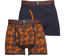 Qubeboid Zwei Pack Boxershorts in lose Passform Navy