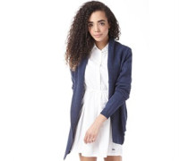 Damen Strickjacke Blaumeliert