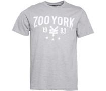 Zoo York Herren Crank Script Logo Athletic T-Shirt Grau
