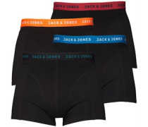 JACK AND JONES Herren Trunks Boxershorts in lose Passform Schwarz