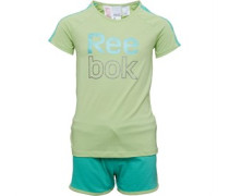 Reebok Junior Short Sleeve Set Lime